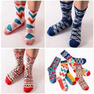 Chaussettes-Mode-Casual-Chaussettes-en-Coton-Design-Multicolore-Pour-hommes