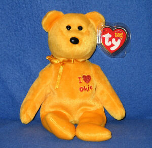 Ty I Love Ohio The Bear Beanie Baby Mint With Mint Tags