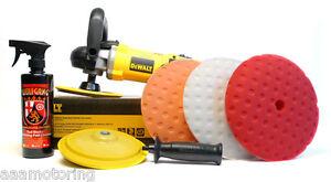 dewalt dwpx variable speed rotary polisher   pad kit car buffer ebay