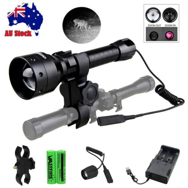 Long Range Infrared IR 850nm LED Rechargeabl Hunt Light Night Vision Torch 18650