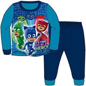 Kids Fleece All in One Boys Character Paw Patrol PJ MASK Pyjamas Age 1-5 Years