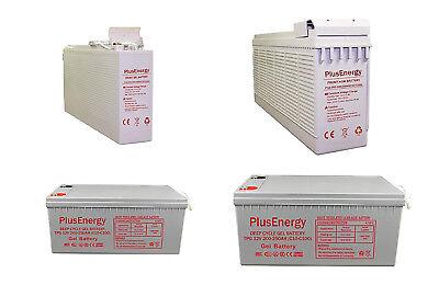 250AH 12V Gel wccsolar.es Bateria Solar AGM Y Gel 12V PlusEnergy 150AH 250AH para instalaci/ón Solar Ciclo Profundo