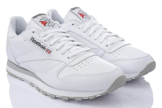 Reebok Classic Leather Herren Sneaker Weiß 48.5EURUK13.5 (2214)