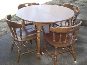 Old Wooden Kitchen Table And Chairs