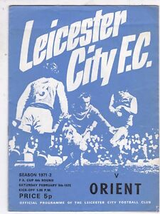 LEICESTER CITY V ORIENT FA CUP 5272 - Bromley, United Kingdom - LEICESTER CITY V ORIENT FA CUP 5272 - Bromley, United Kingdom