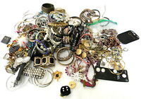 Lot of Costume Jewelry Bracelets Necklaces Watches Brooches Earrings 7.10 pounds