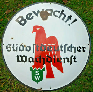 Emaileschild, Süddeutscher Wachdienst   (Art.5273)