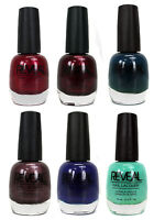 Reveal 15ml Nail Polish Six Pack Package - Salon Grade Color Lacquer Bottle Set on sale
