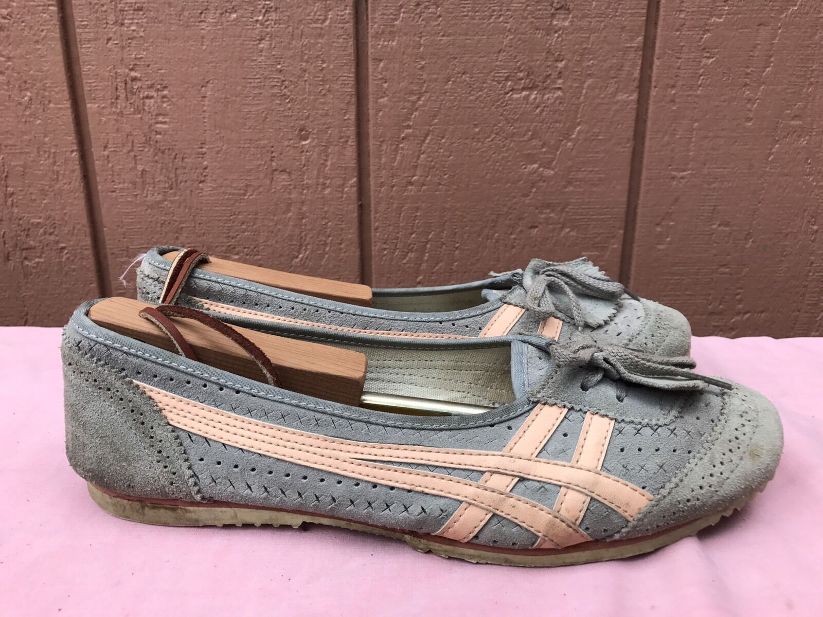 RARE Onitsuka Tiger Norico HL8A9 Gray Suede Ballet Flats Comfortable Great discount