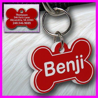Personalized Custom Engraved Plastic Pet Id Tag 2 Sided