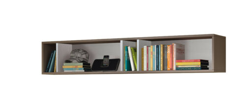 CLEARANCE Florenza Bedroom Floating Wall Shelf Childrens Shelving White /& Grey