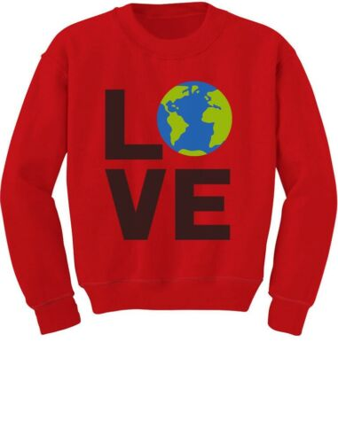 Love Save The Planet Earth Day Environment Toddler//Kids Sweatshirt