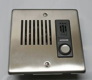 Image is loading AIPHONE-FLUSH-MOUNT-VOICE-INTERCOM-DOOR-STATION-STAINLESS- & AIPHONE FLUSH-MOUNT VOICE INTERCOM DOOR STATION (STAINLESS STEEL ...
