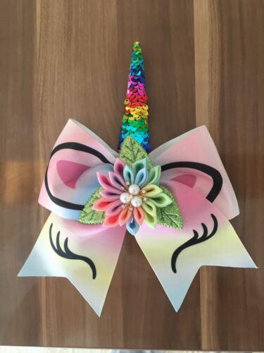 "10 BLESSING Girl 7/"" Cheer Leader Bow Unicorn Elastic LOL Rainbow Hair SURPRISE"