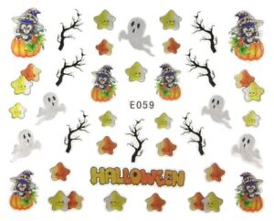 Accessoire-ongles-nail-art-scrapbooking-Stickers-autocollants-Halloween