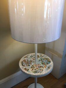 OOAK Mosaic Table Floor Lamp Handmade W Vintage State Souvenir ...