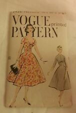 Vtg 50s Vogue printed  Sewing Dress Pattern 9426  dated 1958 complete!