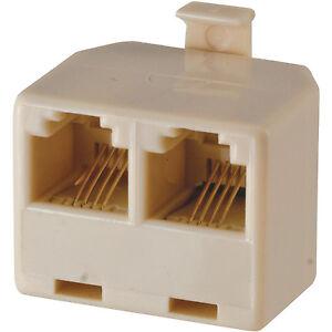 rj11 ge 76104 duplex in wall jack t adapter almond 4. Black Bedroom Furniture Sets. Home Design Ideas