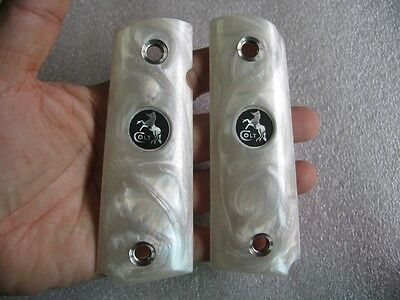 White Pearl resin Grip For Colt 1911 Full Size Kimber Clones Springfield