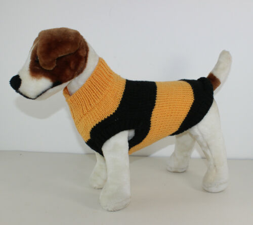PRINTED KNITTING INSTRUCTIONS STRIPEY BEE ARAN DOG COAT KNITTING PATTERN