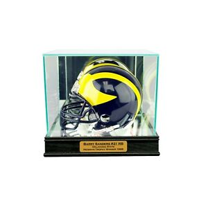 Details About New Barry Sanders Oklahoma State Glass Mirror Mini Helmet Display Case