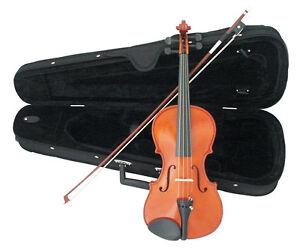 Violinen-Geigen-Set-1-2-mit-Koffer-Bogen-Kinnstuetze-Feinstimmer-Kolofonium-n