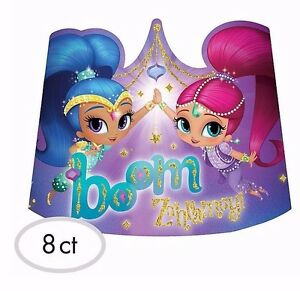 Image Is Loading SHIMMER And SHINE Genies Paper Tiaras Birthday Party