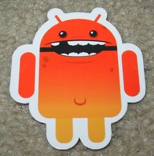 "ANDROID DROID Red Smile robot logo Sticker 2.5"" Google andrew bell"