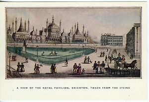 Postcard-Brighton-Royal-Pavilion-from-1830-Drawing-Ex-Cond-Uncirculated