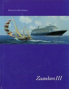 2000-Zaandam-Inaugural-Temporada-Libro-Excelente-Nautiques-las-Naves-Mundial