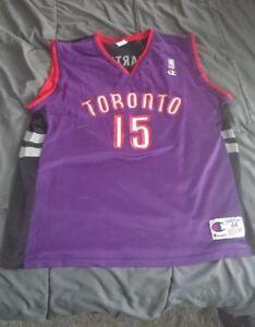 Nike Team Toronto Raptors NBA Jersey Adult LARGE Vince Carter  15 ... da6fd6018