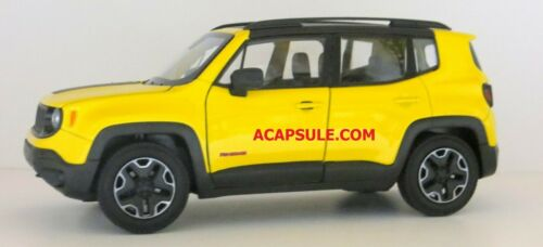 Yellow Jeep Renegade Trailhawk 1//24 Scale Diecast Model Car