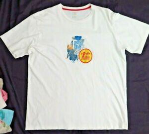 """Size 2XL 25"""" Chest ADIDAS ORIGINALS Men's Graphic Tee T-Shirt White XXL"""