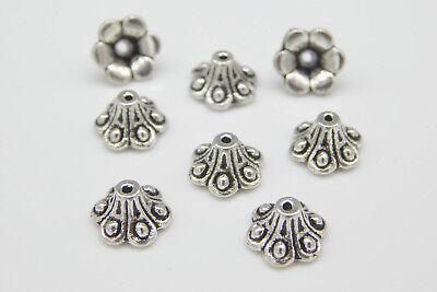 Krönchen Krone gold antik 9mm Metall 9x5mm 100 Perlenkappen Blütenkelch