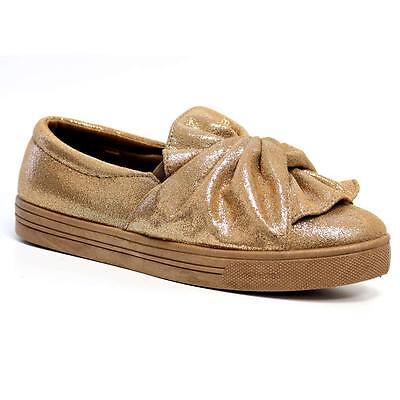 Señoras Mujeres Plana Slip On arco Pom Pom Bombas Moda Zapatillas Zapatos de Skate Talla