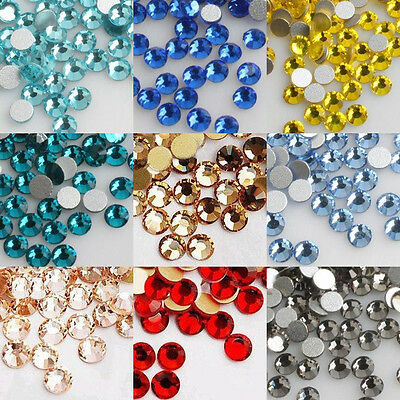 1400PCS 3D Acrylic Nail Art Decorations Crystal Flat Back Rhinestones SS12