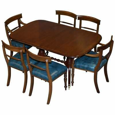 Rrp 9100 Brights Of Nettlebed Burr Walnut Regency Extending Dining Table Chairs Ebay