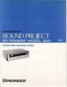 Pioneer-Sound-Project-300-Receiver-Manual-Schematics-Spec-Sheet-Service-Center
