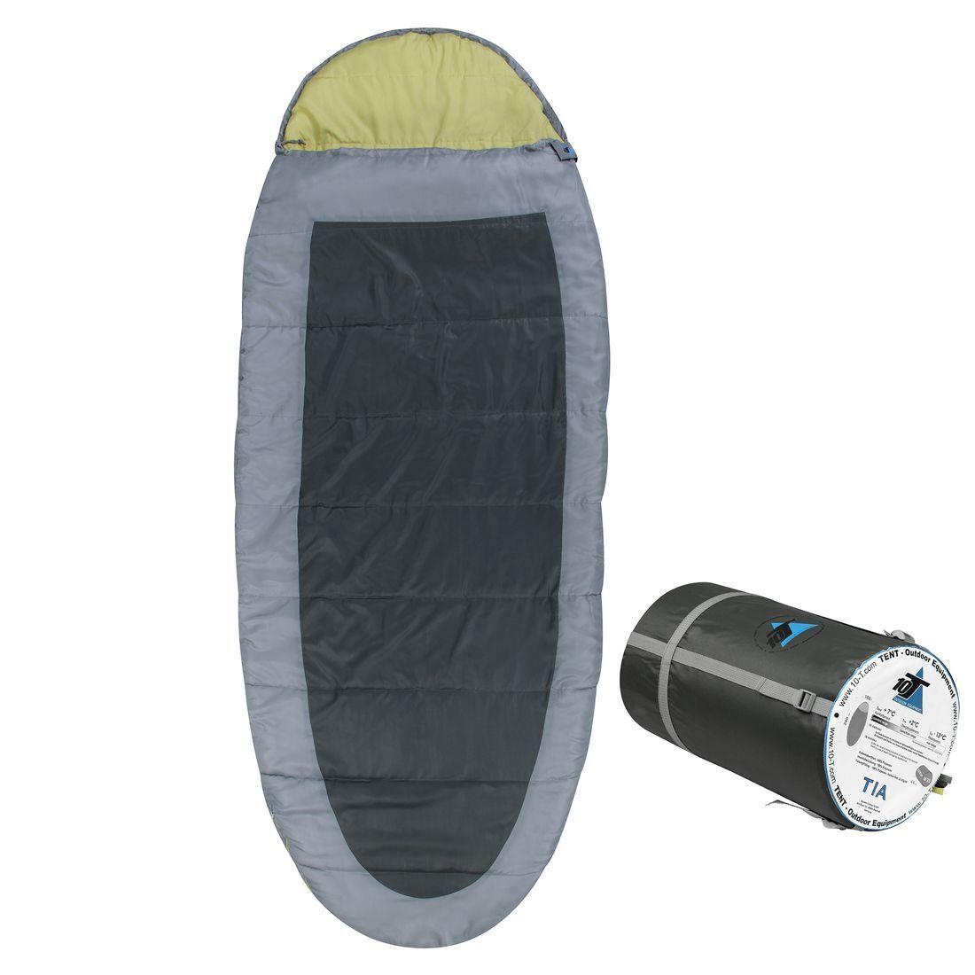 Sleeping Bag TIA -13° Egg-Form Mummy Sleeping Bag 240x100 Grey   Green