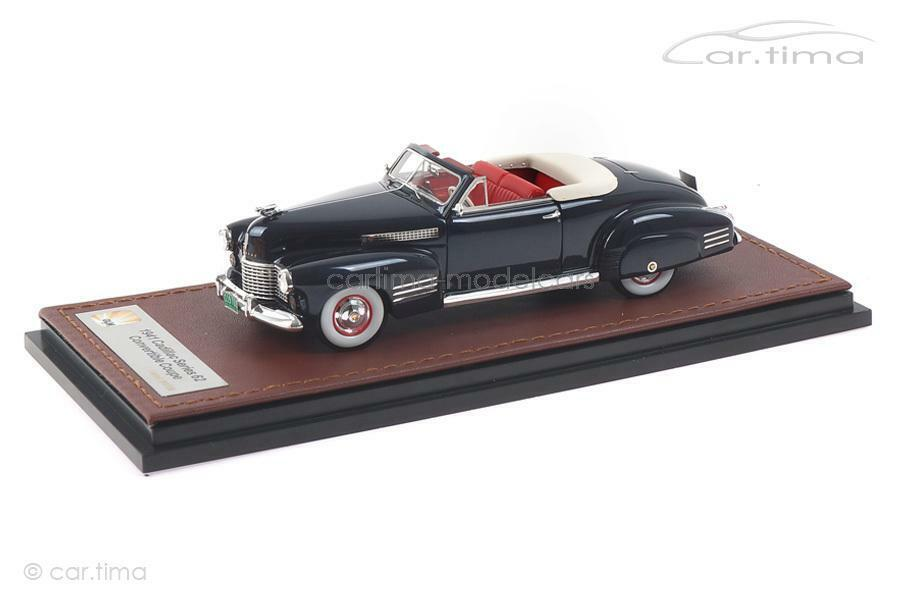 Cadillac Series 62 Convertible Coupe-Bleu-GLM  1 43 - glm119701  confortablement