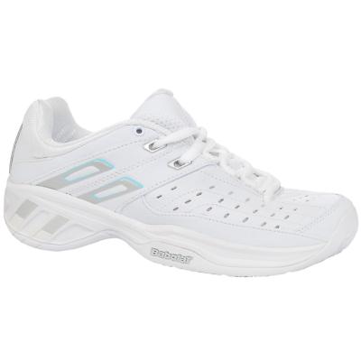 Aspirante Babolat Double Line Lady Scarpe Calzature Sportivi Da Tennis Sport Bianco S87701 Costruzione Robusta
