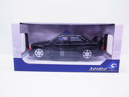 S134 Solido 1801001 Mercedes-Benz 190E Evolution II schwarz Modellauto 1:18 OVP