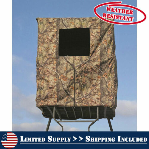 2-Man Tower Hunting Blind Water Weather Resist Scent Control Steel Frame Hunt