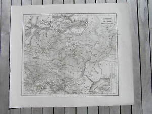 Antique-Map-Sarmatia-Scythia-intra-Imaum-1850-Sarmatian-Sarmatians-Iran