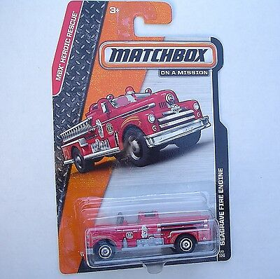 Red SEAGRAVE FIRE ENGINE Matchbox 77/120 MBX Heroic Rescue NEW in Blister Pack!