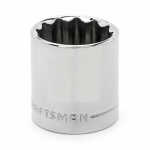 """CRAFTSMAN 1//2/"""" Dr SHALLOW SAE SOCKET 12pt Point Laser Etched Easy Read ANY SIZE"""
