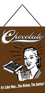 Chocolate-Like-Men-Tin-Sign-Shield-with-Cord-Tin-Sign-7-7-8x11-13-16in-FA0341-K