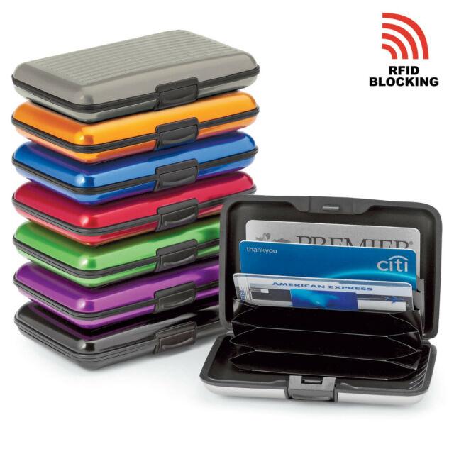 Aluminium RFID Blocking Aluma Credit Cards Holder Wallet Hard Case DQUS