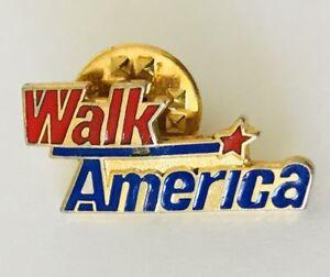 Walk-America-Souvenir-Pin-Brooch-Badge-Vintage-Rare-C2