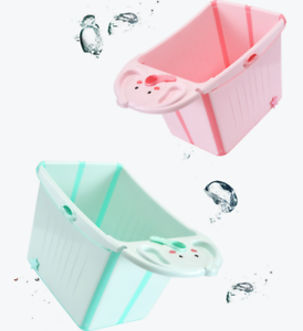 Large Foldable Baby Toddlers Kids Bath Tub Bubble Bathtub
